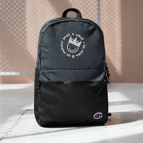 Go Aloha & Be Mahalo Embroidered Champion Backpack