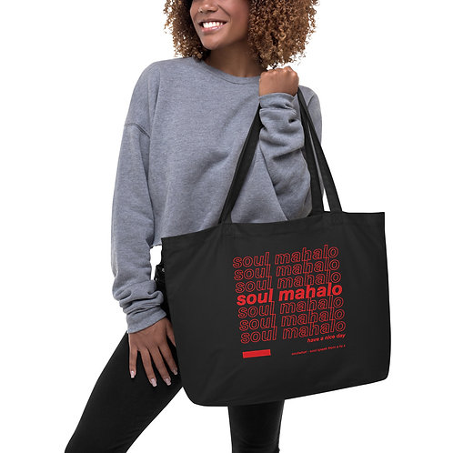 Soul Mahalo Large organic tote bag