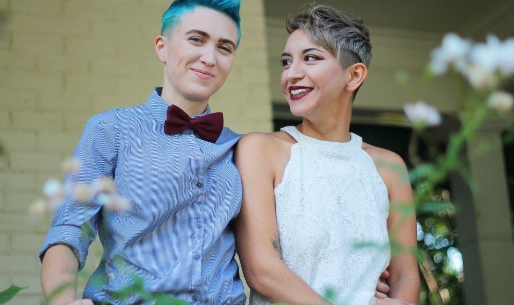 Two lesbians in love