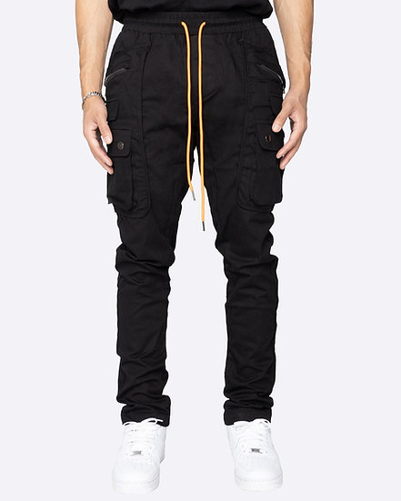Multi Cargo Pants- Black