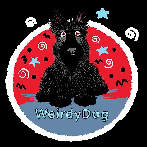 WeirdyDog Greeting Card