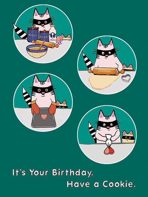 Catoons Greeting Card - Birthday