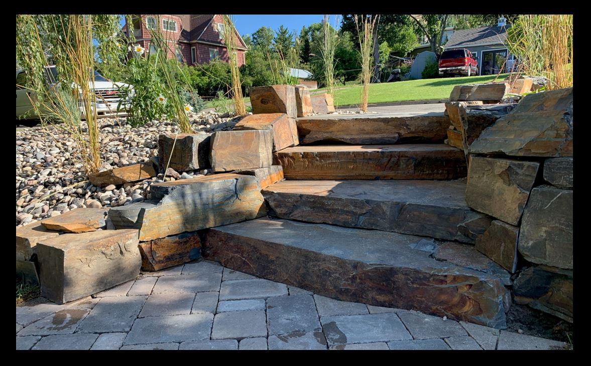 Argillite, Big Sky Bronze, Steps design.