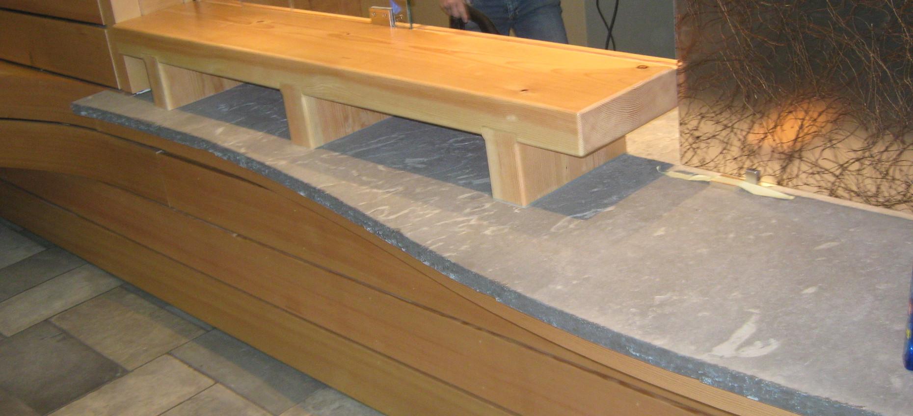 Midnight Limestone Floor & Bench.JPG