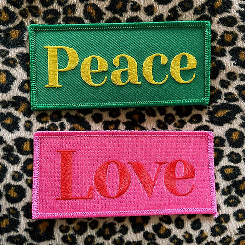 Peace and Love Patches