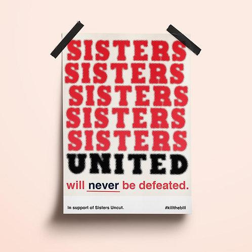 'Sisters United' / 'Kill The Bill' Poster Kit
