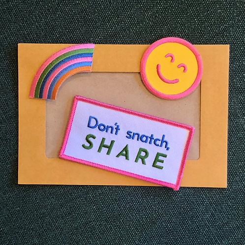 Don't Snatch Patch Pack