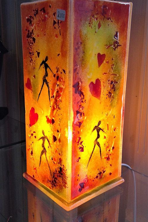 Glass lamp: Autumn tones