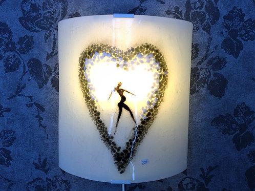 Glass lamp: Heart