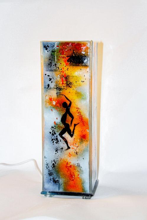 Glass lamp: standing