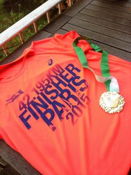 Et oui, marathonien... 3 fois !