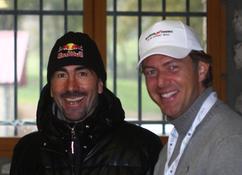 Tristan de Céleyran et Luc Alphand, skieur d'exception, pilote incroyable et skipper. Un palmarès incroyable !