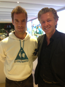 Avec Richard GASQUET, tennisman