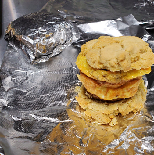 Sausage Egg Cheese Biscuit Sandwich