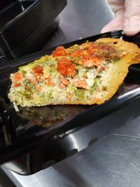 Smoked Salmon Quiche Slice