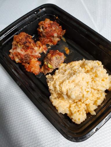 Meatball Parmesan with Cheesy Cauliflower