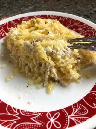 Spaghetti Squash Chicken Ricotta Casserole