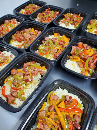 Sausage and Peppers over Cauliflower Rice