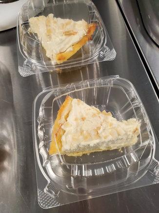Coconut Cream Pie Slice