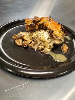 Garlic Mushroom Stuffed Chicken Breast