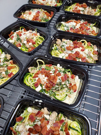 Spinach Feta Chicken over Zoodles