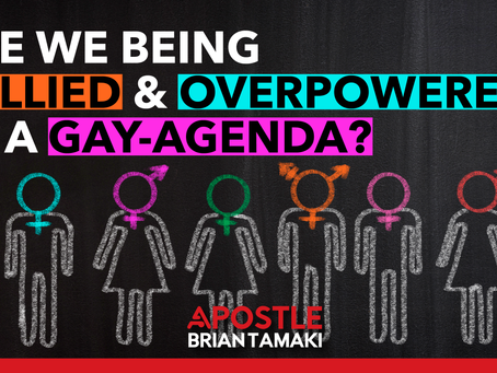ARE WE BEING BULLIED & OVERPOWERED BY A GAY-AGENDA?