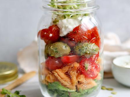Vegetarische lunchsalade to go