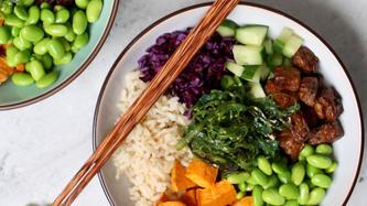 Kleurrijke bodda bowl