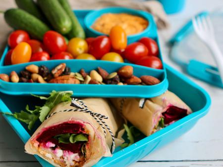 Vegetarische lunch wraps