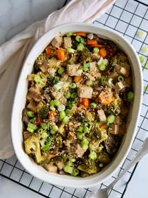 1x koken, 2 keer eten: Vegetarische Teriyaki ovenschotel met tofu