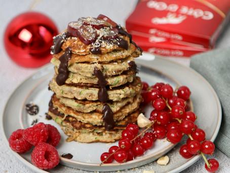Kerstontbijt! Feestelijke chocolade pannenkoeken