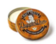 A tin of Dapper Dan matt paste high hold low shine