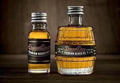 Two bottles of Dapper Dan premium beard oil