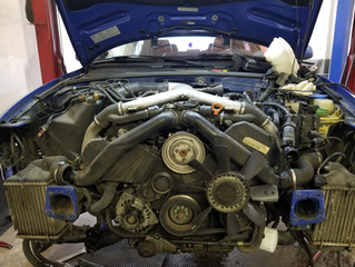 Timing belt replacement, and upper and front reseal on a S4 2.7 L