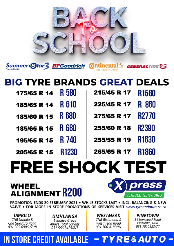 TYRE PROMO - JANUARY - TYRE AND AUTO - A