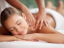A photo of a lady getting a massage