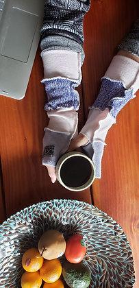 Big hand purple cashmere softies