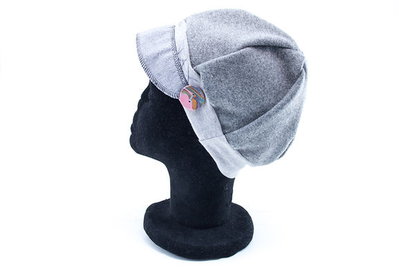Grey Wool with button