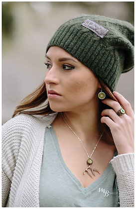 Green wool Sweater Slouch