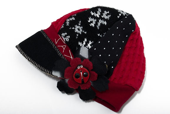 Black Red & White Snowflake
