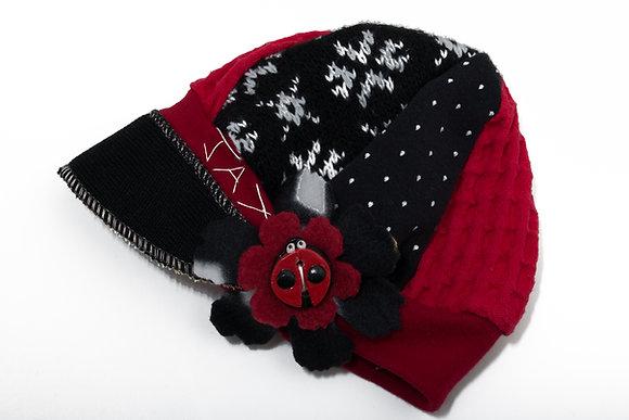 Black Red & White Snowflake