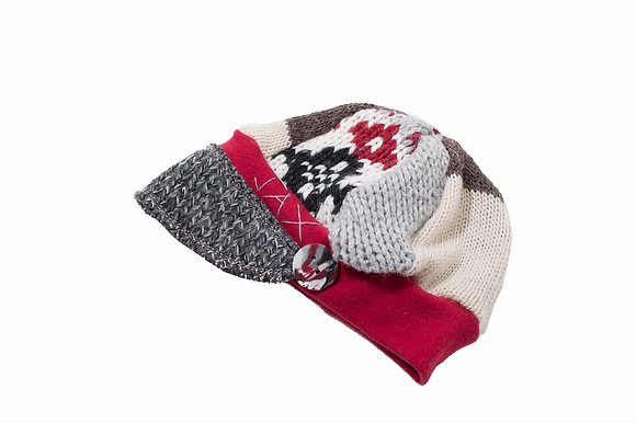 Red Grey& Neutral Knit