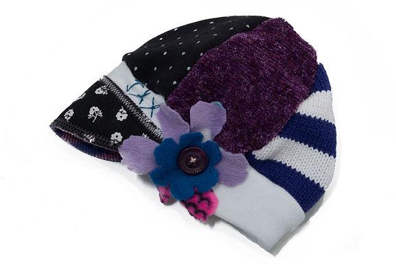 Purple White & Black