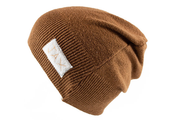 Brown Knit Slouch