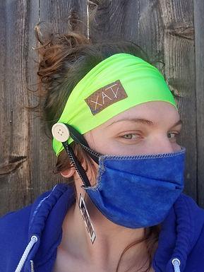 Neon button headband