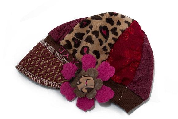 Maroon Pink & Gold Cheetah