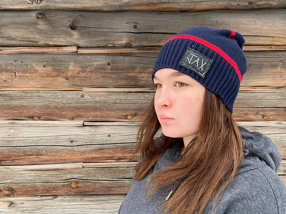 Navy and red slouchie