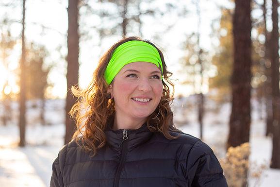 Neon Green headband