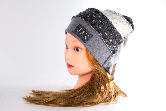 Cozy Grey & White Knit