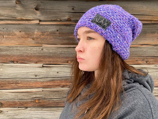 Purple speckled thick slouchie